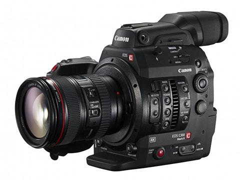 canon c300 mark ii larger